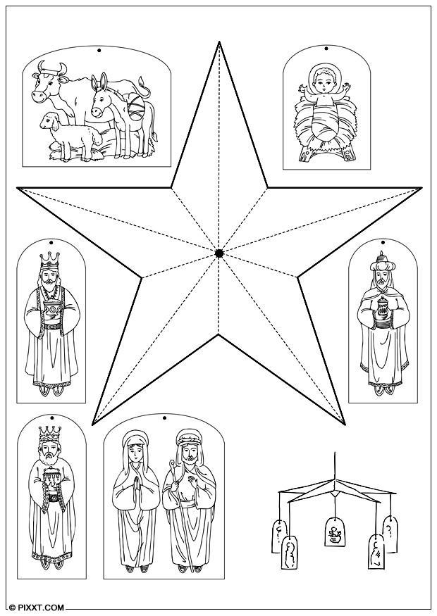 bricolages carrousel de no l bricolages pour enfants 28191. Black Bedroom Furniture Sets. Home Design Ideas
