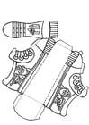 Bricolage chaussure de Saint Nicolas sans texte