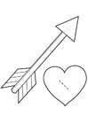 Bricolage coeur et flèche