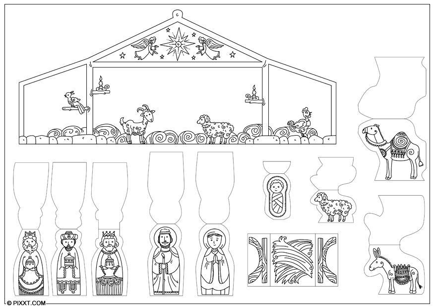Kerst Placemats Kleurplaten Bricolages Cr 232 Che De Nativit 233 28197 X Bricoler Pour Enfants