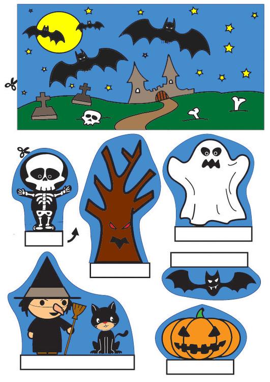 bricolages diorama d 39 halloween bricolages pour enfants. Black Bedroom Furniture Sets. Home Design Ideas