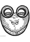 Bricolage masque de grenouille