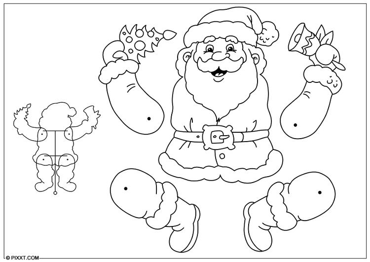 bricolage pere noel Bricolages pantin père Noël. Bricolages pour enfants   28195 bricolage pere noel