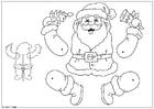 Bricolage pantin père Noël
