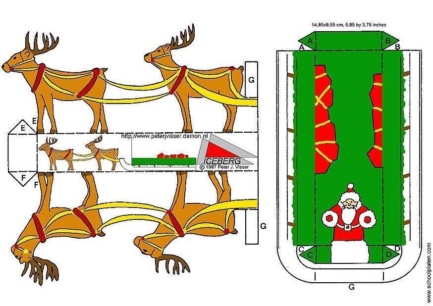 bricolages traineau bricolages pour enfants 3409. Black Bedroom Furniture Sets. Home Design Ideas