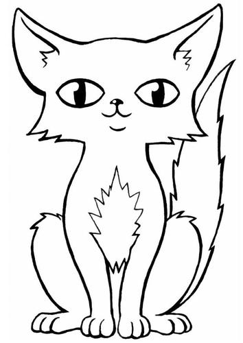 Image de chat facile dessiner - Chat facile a dessiner ...