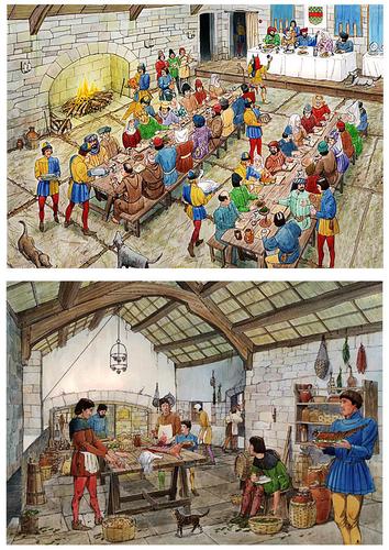 L'auberge - Page 3 Chateau-salle-des-banquets-et-cuisine-du-moyen-age-t14904