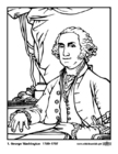 Coloriages 01 George Washington