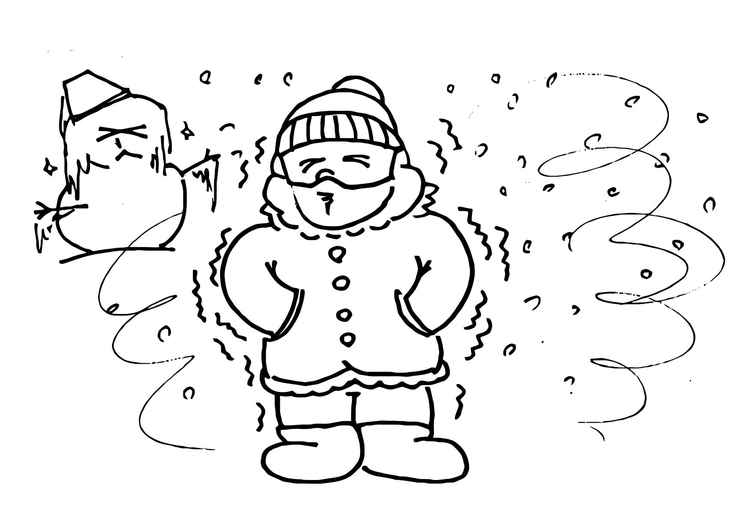 Coloriage 013b. froid-hiver