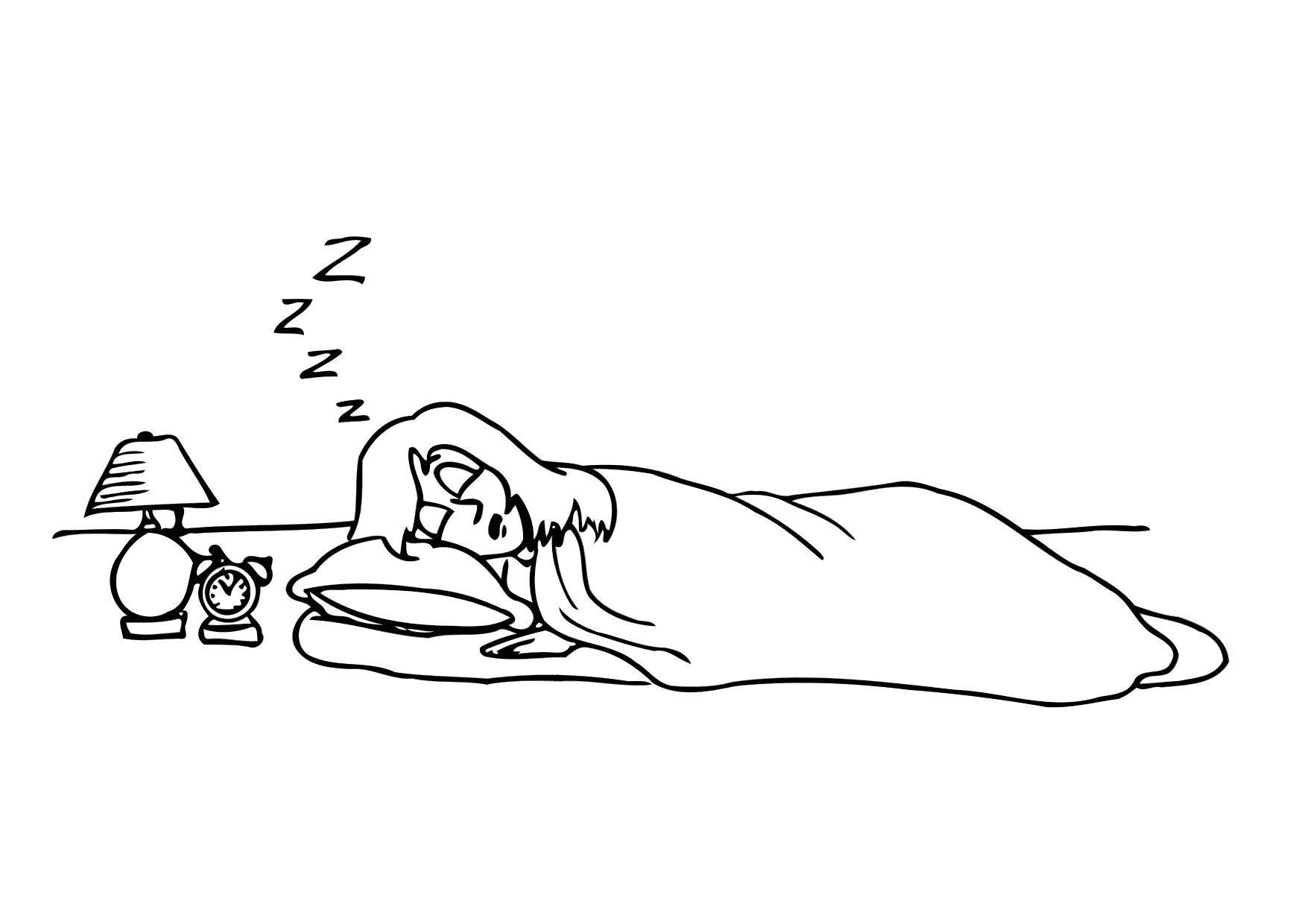 Coloriage 016b dormir img 12156 - Ont va se coucher moins niaiseux ...