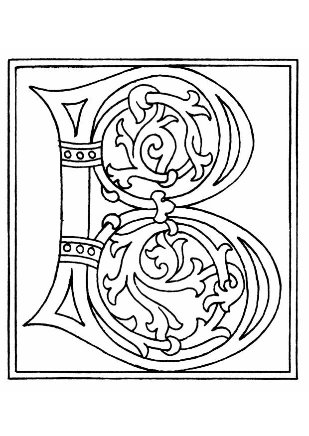 Coloriage 01a alphabet B img