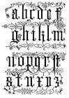 Coloriage 16 ième siècle lettres