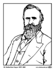 Coloriages 19 Rutherford Hayes