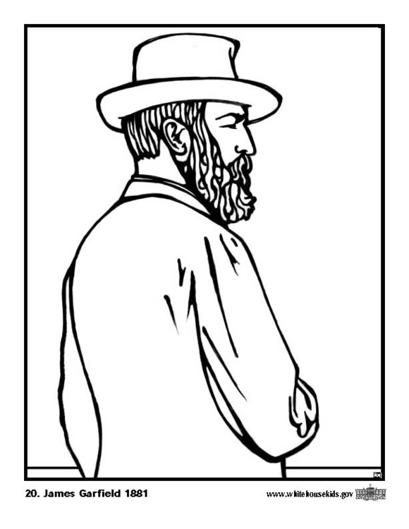 Coloriage 20 James Garfield Coloriages Gratuits A Imprimer Dessin 12611