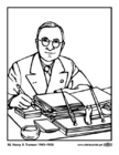 Coloriages 33 Harry S. Truman