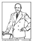 Coloriages 34 Dwight David Eisenhower