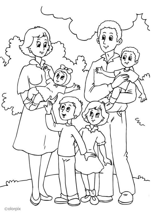 Coloriage 4 nouvelle famille chez la m re img 25992 - Coloriage de la famille ...