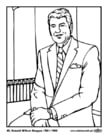 Coloriages 40 Ronald Wilson Reagan