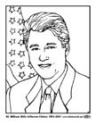 Coloriage 42 William (Bill) Jefferson Clinton
