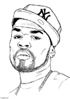 Coloriage 50 Cent