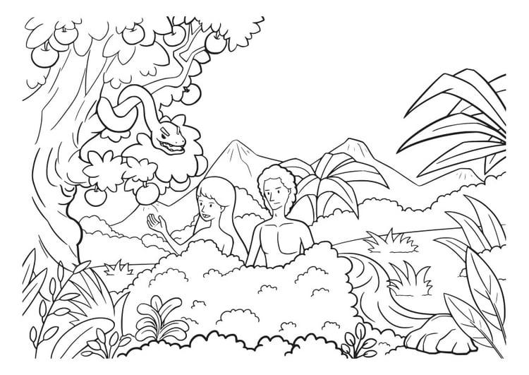 Coloriage Adam Et Eve Img 29826