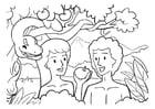 Coloriage Adam et Eve