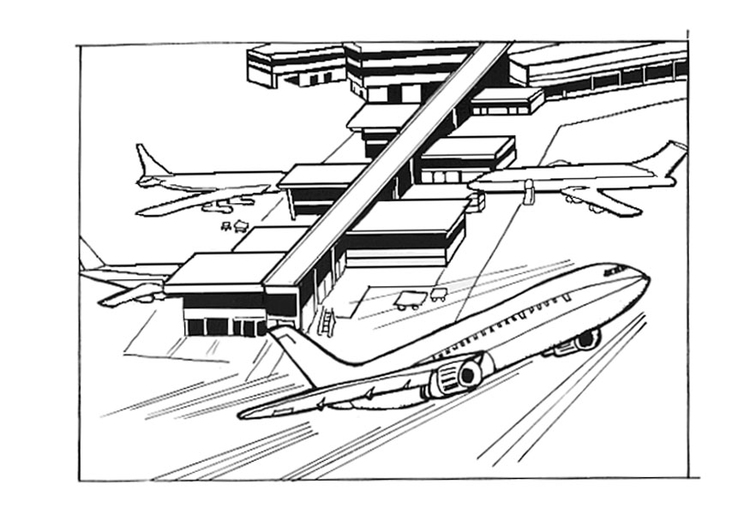 Coloriage aeroport