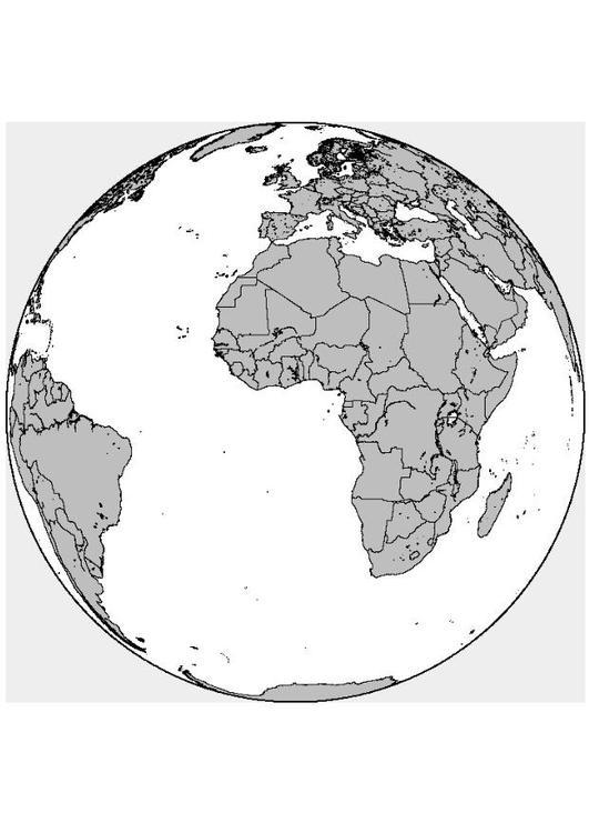 coloriage afrique europe i