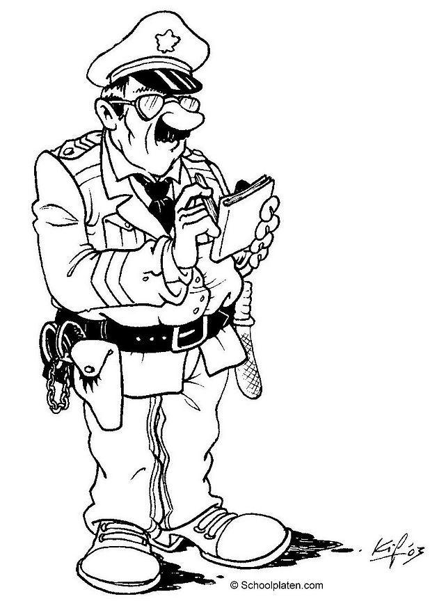 Coloriage agent de police img 3608 - Police coloriage ...
