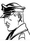 Coloriage agent de police