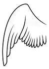 Coloriage aile gauche