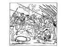 Coloriage Alexander combat les Perses