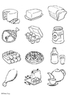 Coloriage alimentation
