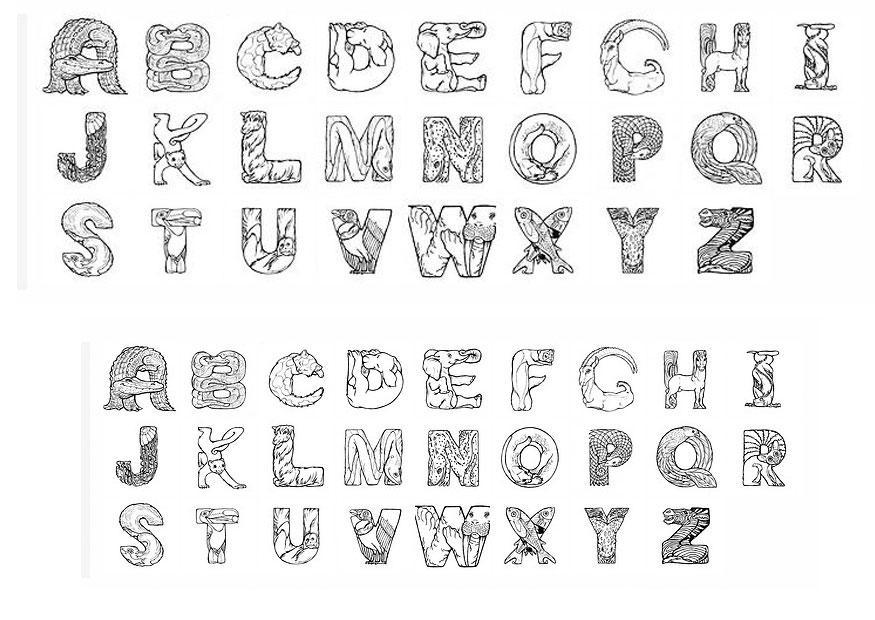Coloriage alphabet img 24825 - Alphabet dessin ...