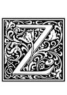 Coloriage alphabet ornemental - Z