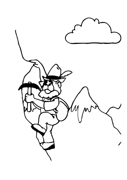 Coloriage alpinist