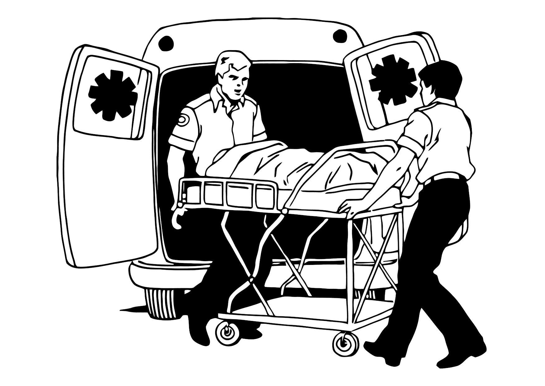 Coloriage ambulance img 11373 - Dessin ambulance ...