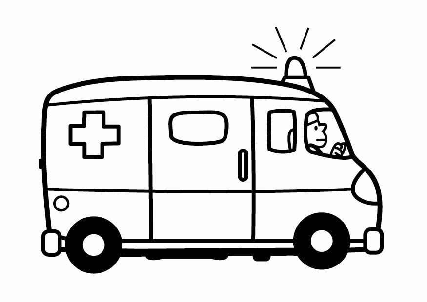 Coloriage Ambulance Coloriages Gratuits A Imprimer Dessin 24102