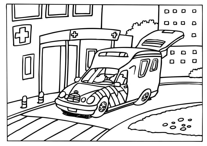 Coloriage ambulance - img 6572