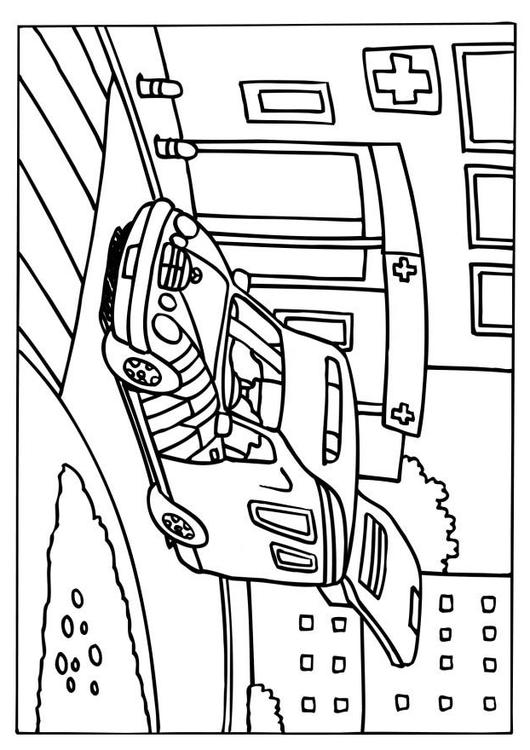 Coloriage ambulance img 6579 - Dessin ambulance ...