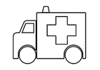 Coloriage ambulance