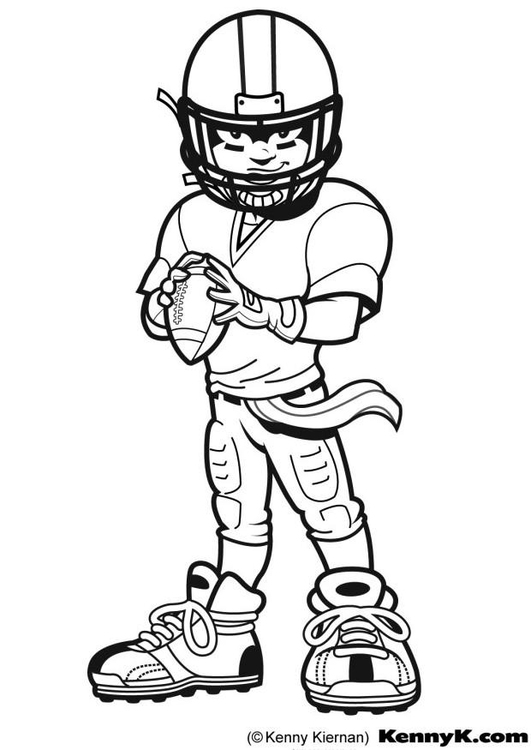 Coloriage American Football