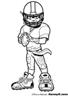 Coloriages American Football