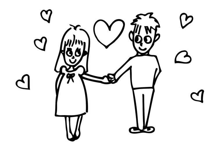 Coloriage amour img 20623 images - Image dessin amour ...