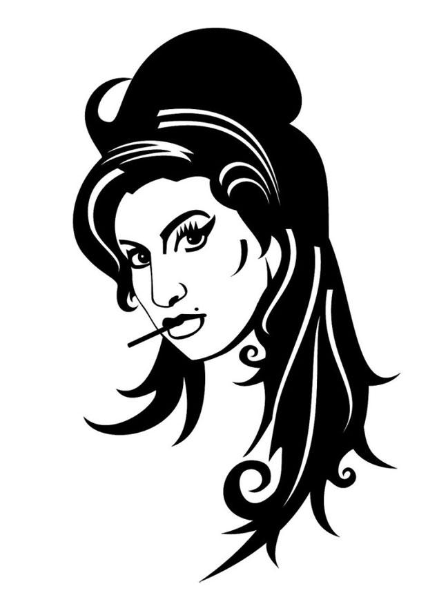 Coloriage Amy Winehouse Img 24697