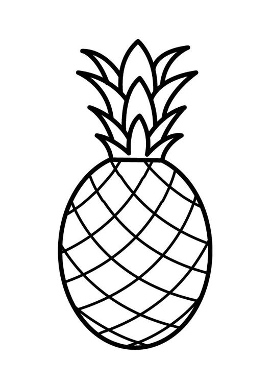 Coloriage Ananas Img 23170 Images