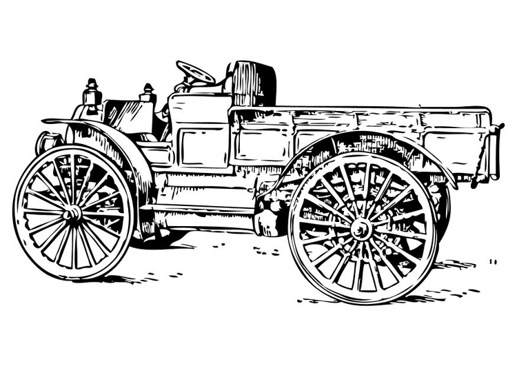 Coloriage Ancien Camion Img 10473