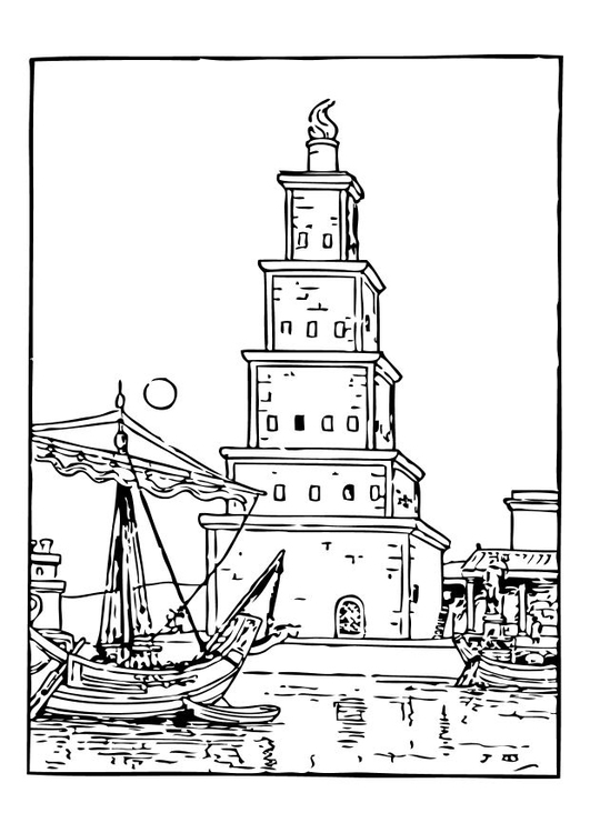Coloriage ancien phare