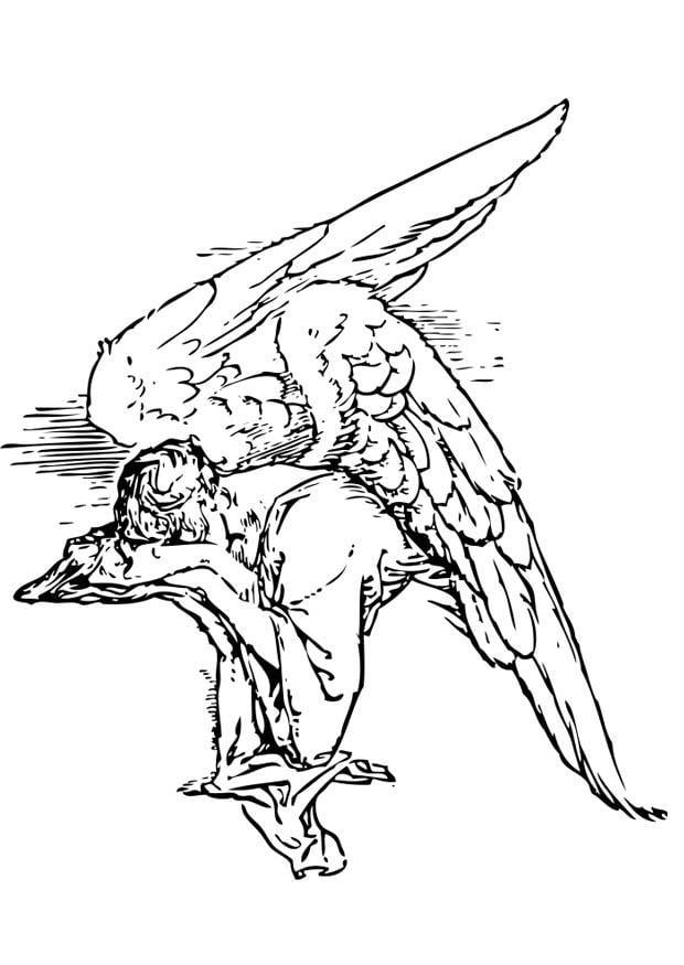 Coloriage ange triste - img 17367