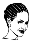 Coloriage Angelina Jolie
